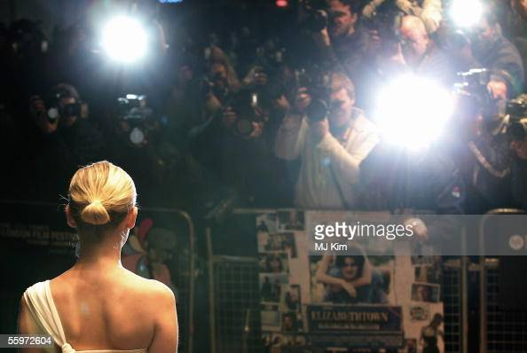 Actress Kirsten Dunst arrives at the UK Premiere of 'Elizabethtown' showing as part of The Times BFI London Film Festival at the Odeon Leicester...