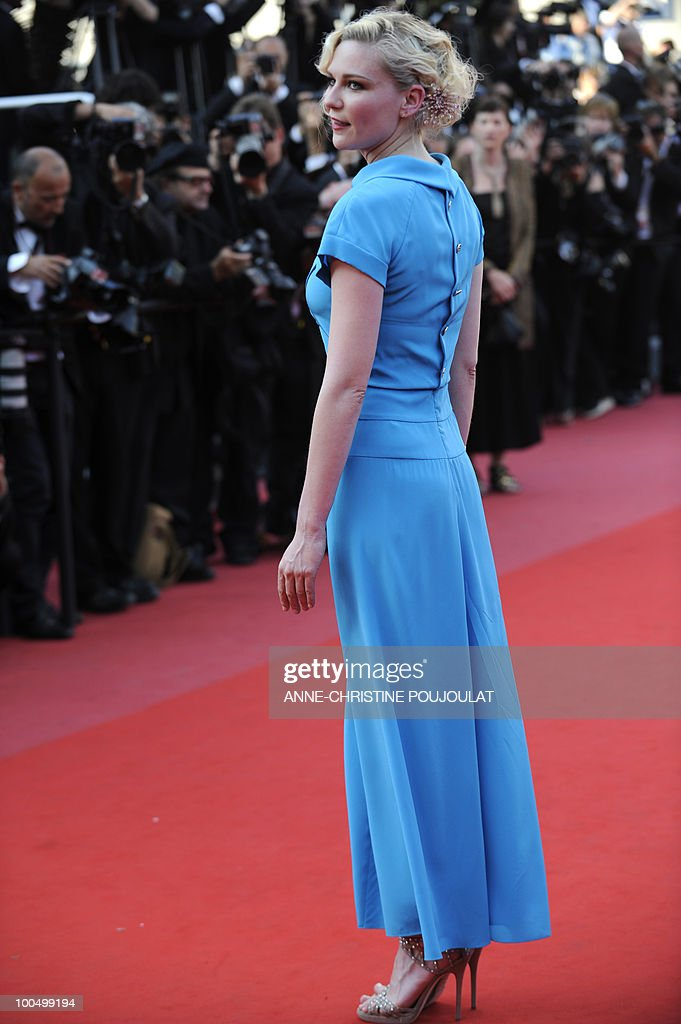 US actress Kirsten Dunst arrives for the closing ceremony of the 63rd Cannes Film Festival taken on May 23, 2010 in Cannes.