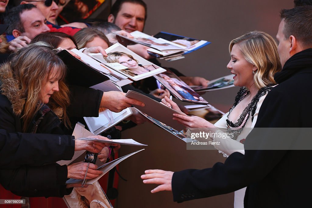 Actress Kirsten Dunst arrives for the 'Midnight Special' photo call during the 66th Berlinale International Film Festival Berlin at Grand Hyatt Hotel on February 12, 2016 in Berlin, Germany.