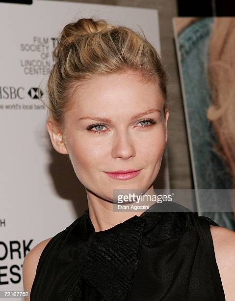 Actress Kirsten Dunst arrives for The New York Film Festival screening of 'Marie Antoinette' at Alice Tully Hall October 13 2006 in New York City