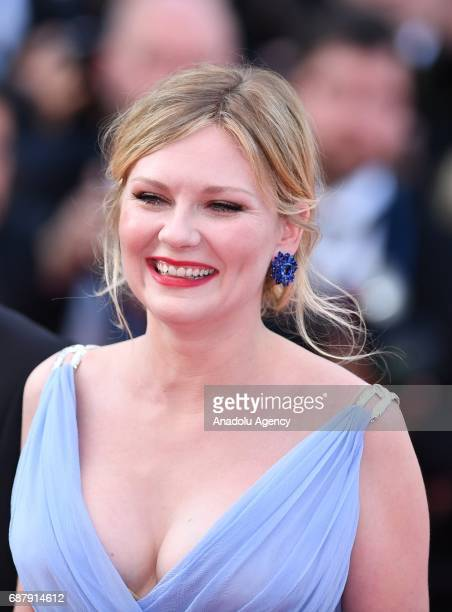 US actress Kirsten Dunst arrives for the premiere of the film The Beguiled in competition at the 70th annual Cannes Film Festival in Cannes France on...
