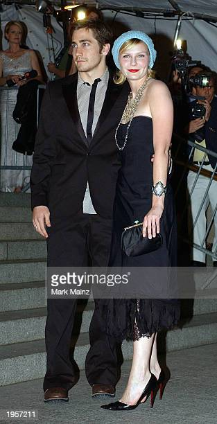Actress Kirsten Dunst arrives with her boyfriend Actor Jake Gyllenhaal for 'Goddess Costume Institute Benefit Gala' at the Metropolitan Museum of Art...
