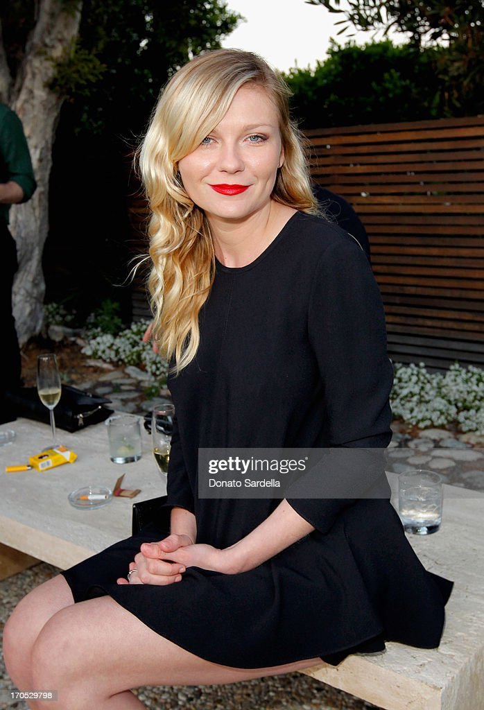 Actress Kirsten Dunst attends an informal supper hosted by Barneys New York to toast designers Jack McCollough and Lazaro Hernandez of Proenza Schouler and to celebrate the first collection at the home of Mark Fletcher and Tobias Meyer on June 13, 2013 in Los Angeles, California.