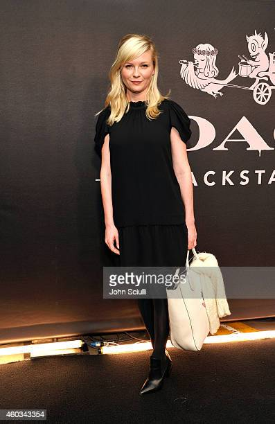 Actress Kirsten Dunst attends Coach Backstage Rodeo Drive on December 11 2014 in Beverly Hills California