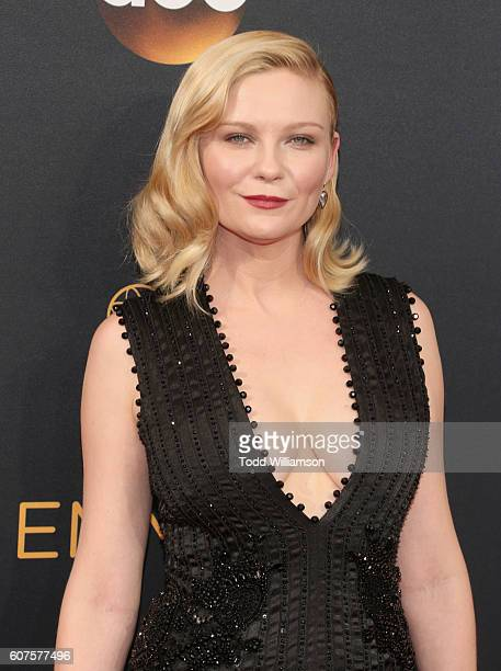 Actress Kirsten Dunst attends the 68th Annual Primetime Emmy Awards at Microsoft Theater on September 18 2016 in Los Angeles California
