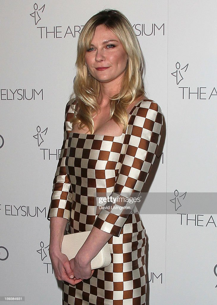 Actress Kirsten Dunst attends the Art of Elysium's 6th Annual Black-tie Gala 'Heaven' at 2nd Street Tunnel on January 12, 2013 in Los Angeles, California.