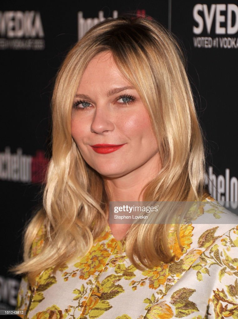 Actress <a gi-track='captionPersonalityLinkClicked' href=/galleries/search?phrase=Kirsten+Dunst&family=editorial&specificpeople=171590 ng-click='$event.stopPropagation()'>Kirsten Dunst</a> attends the 'Bachelorette' New York Premiere at Sunshine Landmark on September 4, 2012 in New York City.