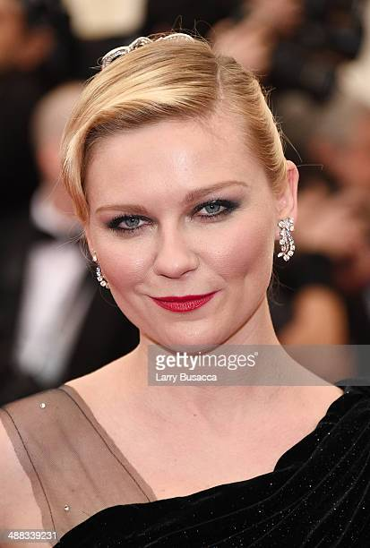 Actress Kirsten Dunst attends the 'Charles James Beyond Fashion' Costume Institute Gala at the Metropolitan Museum of Art on May 5 2014 in New York...
