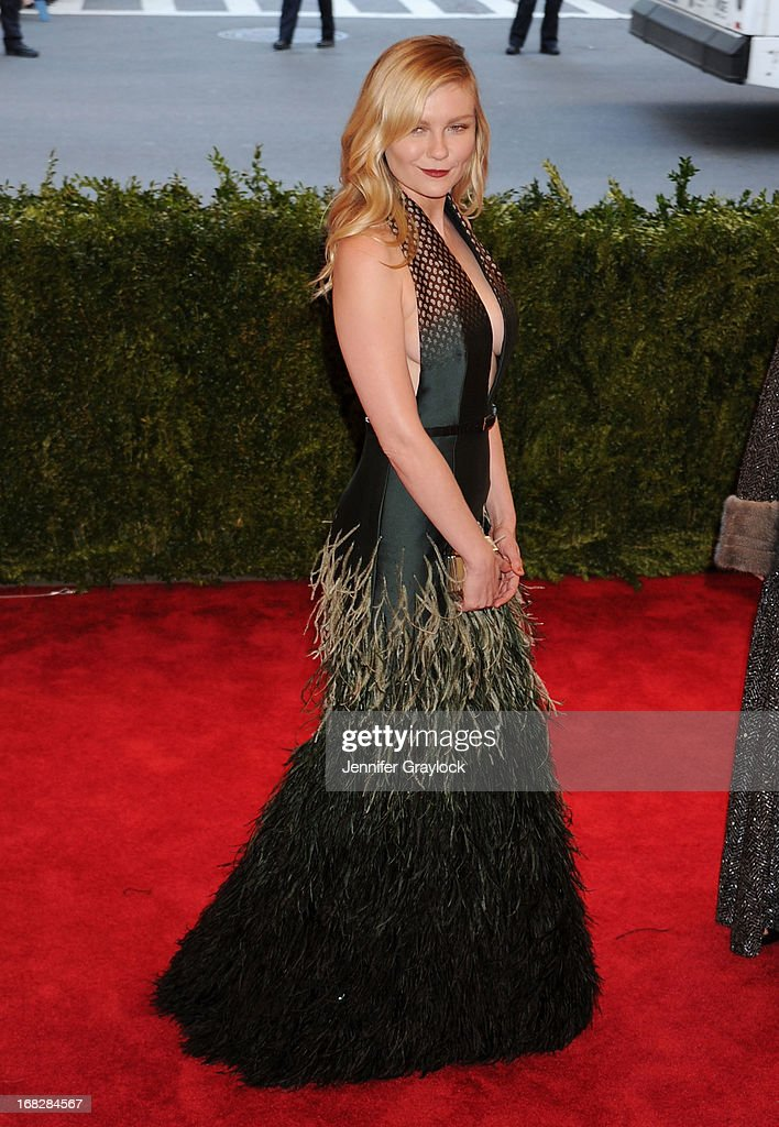 Actress Kirsten Dunst attends the Costume Institute Gala for the 'PUNK: Chaos to Couture' exhibition at the Metropolitan Museum of Art on May 6, 2013 in New York City.