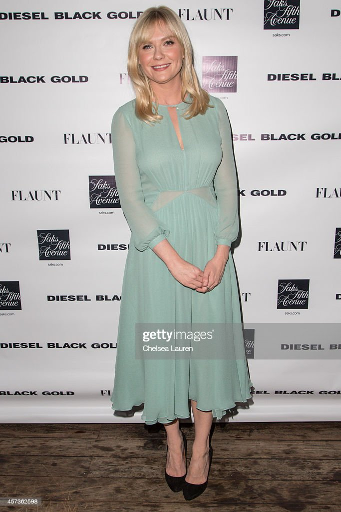 Actress Kirsten Dunst attends the Diesel Black Gold at Saks Fifth Avenue Launch and Flaunt Magazine 15th anniversary celebration party at SIXTY...
