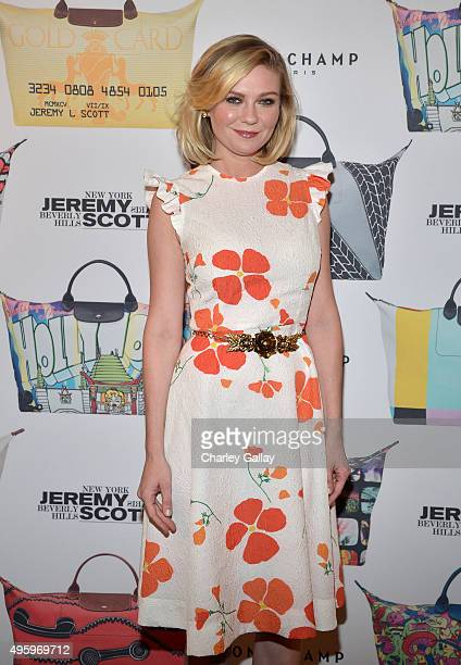 Actress Kirsten Dunst attends the Jeremy Scott for Longchamp 10th Anniversary held at a Private Residence on November 5 2015 in Beverly Hills...