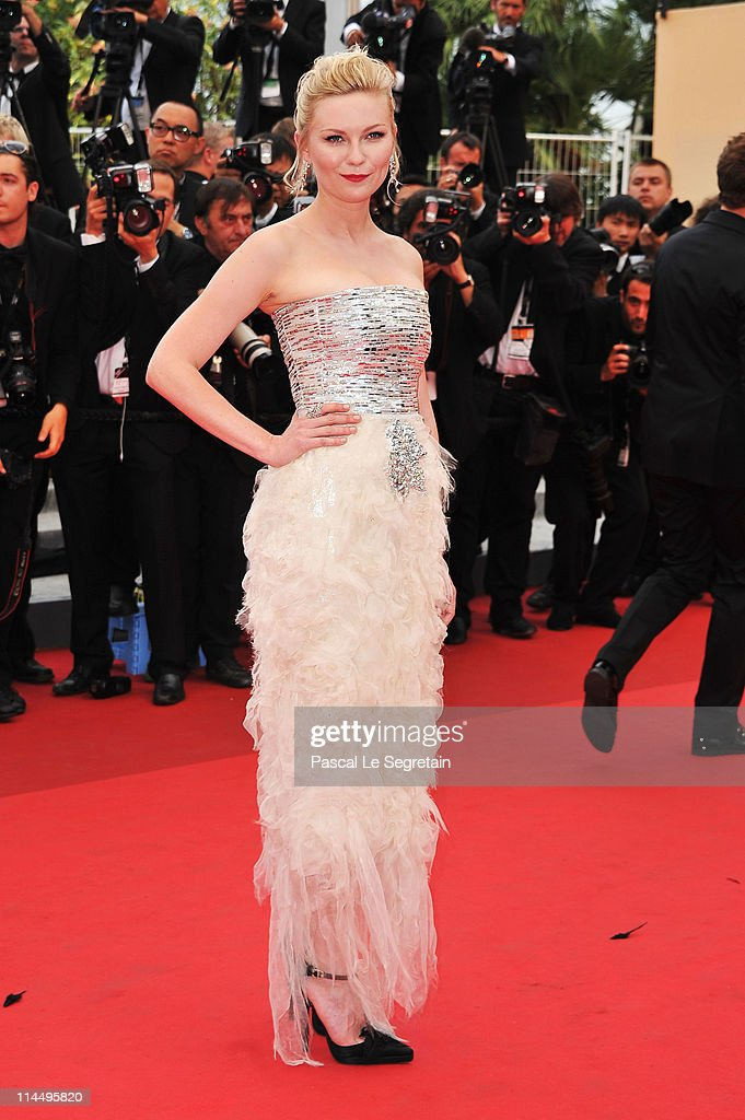 Actress Kirsten Dunst attends the 'Les BienAimes' premiere at the Palais des Festivals during the 64th Cannes Film Festival on May 22 2011 in Cannes...