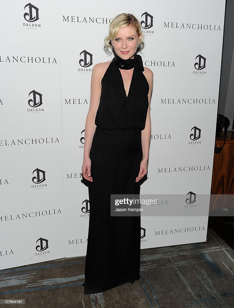 Actress Kirsten Dunst attends the 'Melancholia' premiere after party during the 49th annual New York Film Festival at the Stone Rose Lounge on...