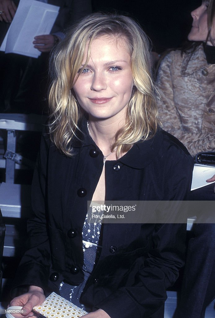 Actress Kirsten Dunst attends the New York City Fall 2002 Fashion Week: Marc Jacobs Fashion Show on February 11, 2002 at the 69th Regiment Armory in New York City.