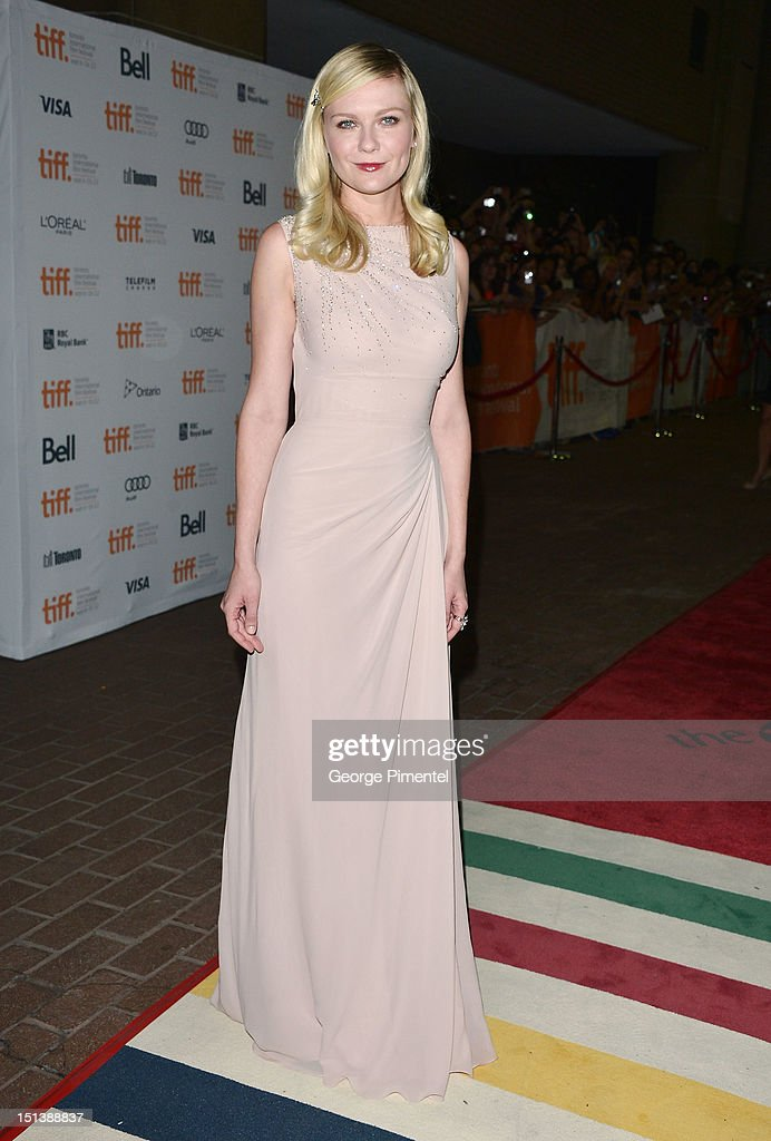Actress Kirsten Dunst attends the 'On The Road' premiere during the 2012 Toronto International Film Festivalon September 6, 2012 in Toronto, Canada.