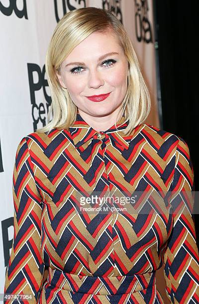 Actress Kirsten Dunst attends the Pen Center USA's 25th Annual Literary Awards Festival at the Beverly Wilshire Four Seasons Hotel on November 16...