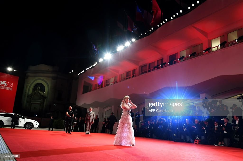 Actress Kirsten Dunst attends the premiere of the movie 'Woodshock' presented in the 'Cinema nel Giardino' selection at the 74th Venice Film Festival on September 4, 2017 at Venice Lido. /