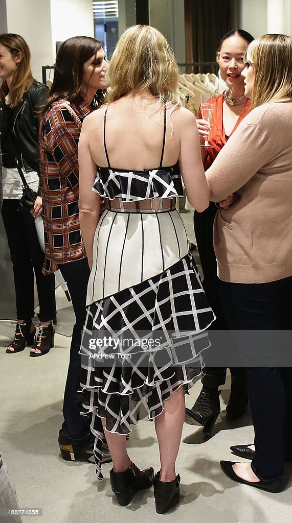 Actress <a gi-track='captionPersonalityLinkClicked' href=/galleries/search?phrase=Kirsten+Dunst&family=editorial&specificpeople=171590 ng-click='$event.stopPropagation()'>Kirsten Dunst</a> (fashion detail) attends the Rodarte Book Launch Party at Curve Boutique on May 4, 2014 in New York City.