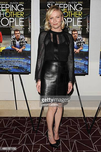 Actress Kirsten Dunst attends the tastemaker screening of IFC Films' 'Sleeping With Other People' on August 24 2015 in West Hollywood California