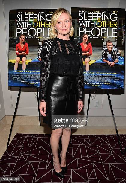 Actress Kirsten Dunst attends the Tastemaker screening of IFC Films' 'Sleeping With Other People' on August 24 2015 in Los Angeles California