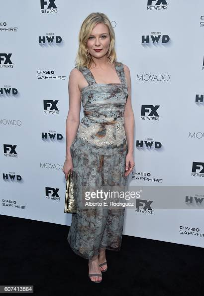 Actress Kirsten Dunst attends the Vanity and FX Annual Primetime Emmy Nominations Party at Craft Restaurant on September 17 2016 in Beverly Hills...