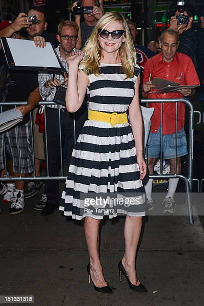 Actress Kirsten Dunst enters the 'Good Morning America' taping at the ABC Times Square Studios on September 5 2012 in New York City
