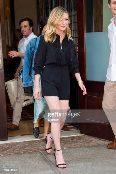 Actress Kirsten Dunst is seen in Tribeca on June 15 2017 in New York City