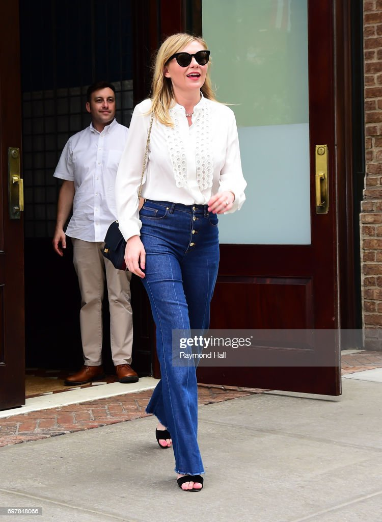 Actress Kirsten Dunst is seen walking in Soho on June 19, 2017 in New York City.