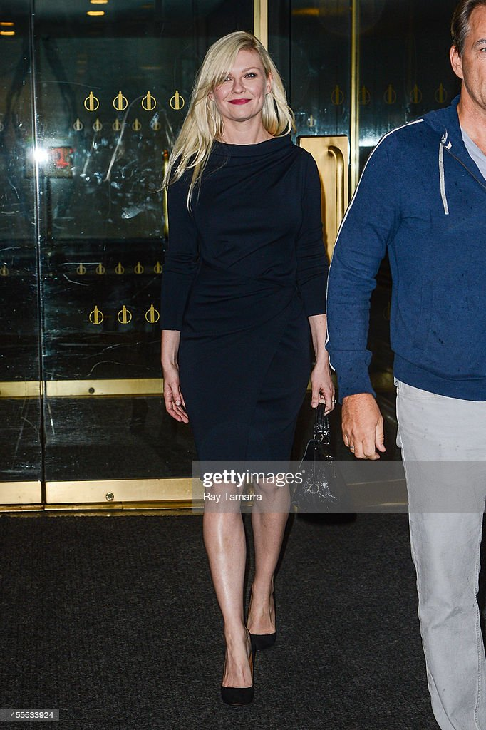 Actress Kirsten Dunst leaves the 'Today Show' taping at the NBC Rockefeller Center Studios on September 16, 2014 in New York City.