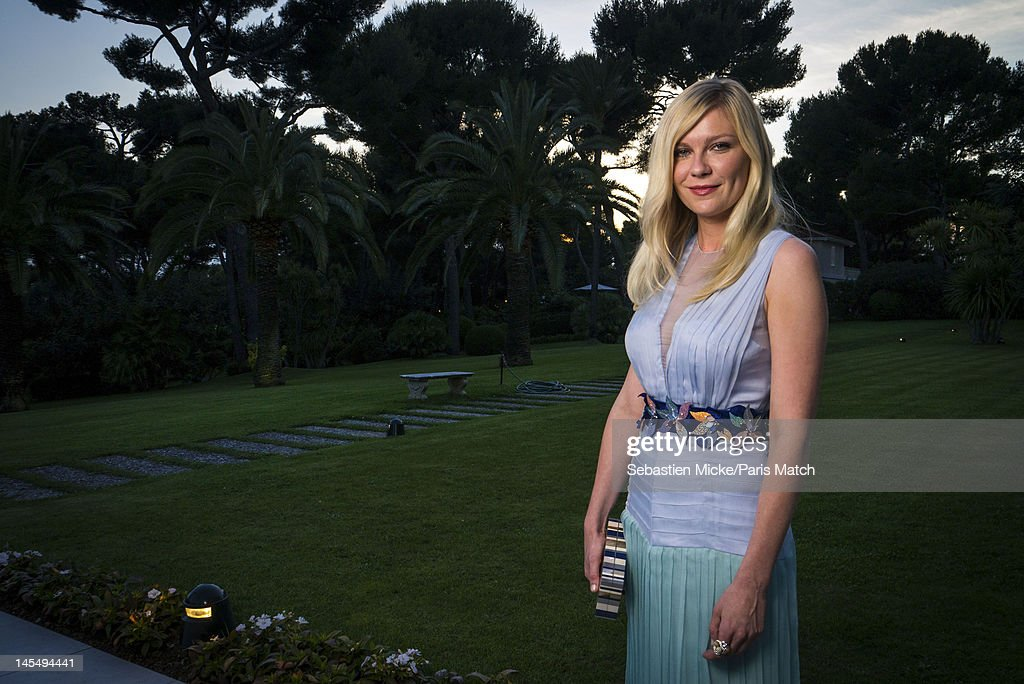 Actress Kirsten Dunst photographed at the amfAR Cinema Against AIDS gala, for Paris Match on May 24, 2012, in Cap d'Antibes, France.