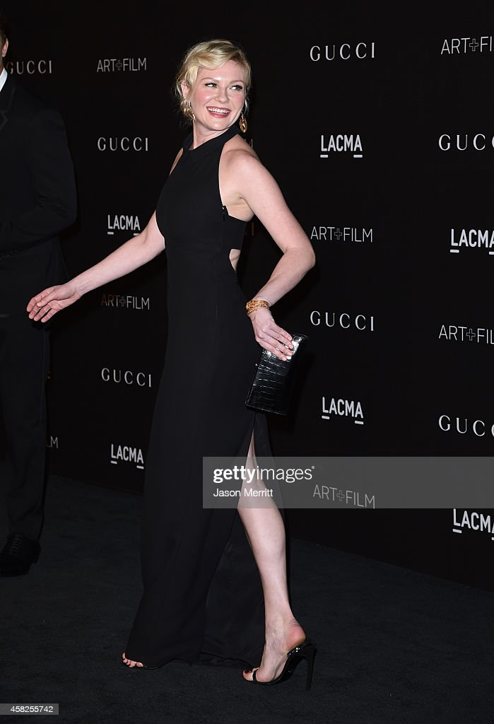 Actress Kirsten Dunst wearing Gucci attends the 2014 LACMA Art Film Gala honoring Barbara Kruger and Quentin Tarantino presented by Gucci at LACMA on...