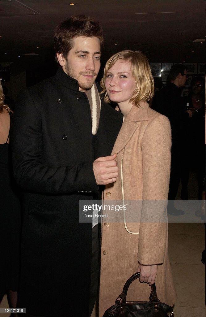 Actress Kirsten Dunst With Boyfriend Jake Gyllenhaal, Sylvia Movie After Party At Mezzo In Wardour Street, London