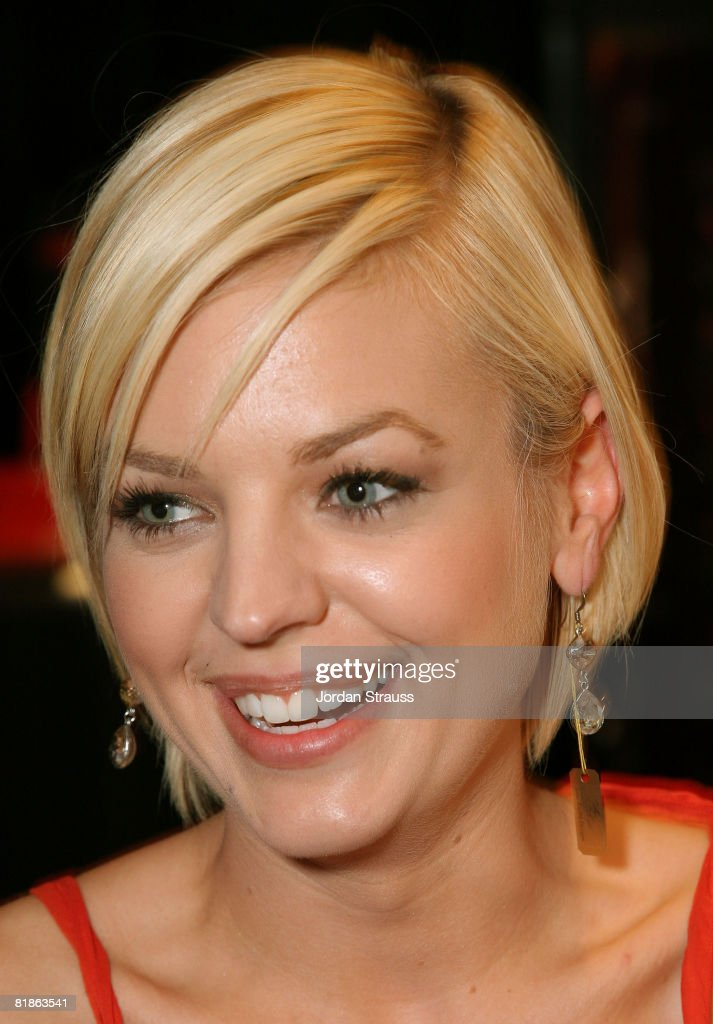 Actress Kirsten Storms poses in the Daytime Emmy official gift lounge produced by On 3 Productions held at the Kodak Theatre on June 19, 2008 in Hollywood, California.