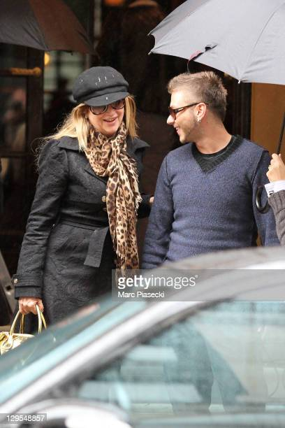 Actress Kirstie Alley and Serge Onik is sighted leaving a hotel on October 18 2011 in Paris France