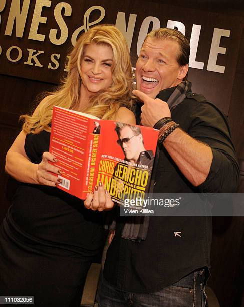 Actress Kirstie Alley and wrestler Chris Jericho attend Cheryl Burke And Chris Jericho book signing of their books 'Dancing Lessons' And 'Undisputed'...
