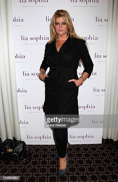 Actress Kirstie Alley attends lia sophia celebrates 'Social Fashion' and debuts 'boudika' Red Carpet Collection at Empire Hotel on September 12 2011...