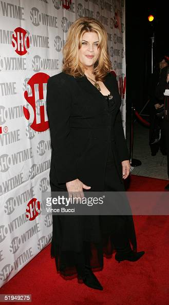 Actress Kirstie Alley attends Showtime's TCA Press Tour party at Universal Studios January 12 2005 in Los Angeles California