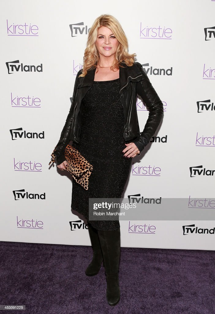 Actress <a gi-track='captionPersonalityLinkClicked' href=/galleries/search?phrase=Kirstie+Alley&family=editorial&specificpeople=206297 ng-click='$event.stopPropagation()'>Kirstie Alley</a> attends the 'Kirstie' premiere party at Harlow on December 3, 2013 in New York City.