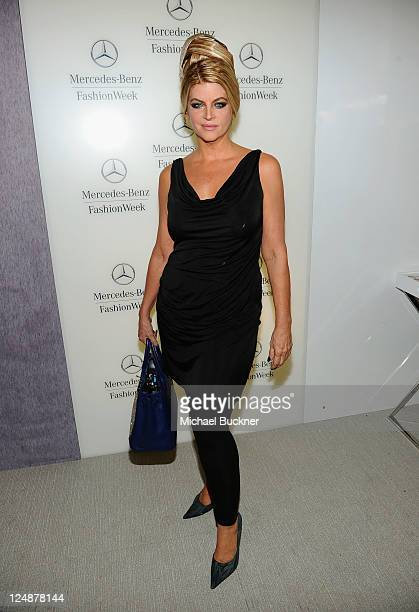 Actress Kirstie Alley poses during MercedesBenz Fashion Week Spring 2012 at Lincoln Center on September 13 2011 in New York City