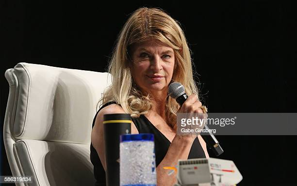 Actress Kirstie Alley speaks during the 15th annual official Star Trek convention at the Rio Hotel Casino on August 5 2016 in Las Vegas Nevada