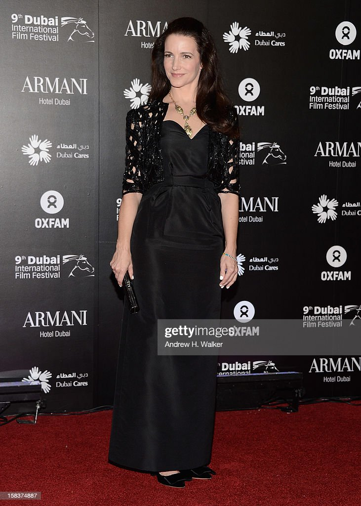Actress Kirstin Davis attends the 2012 Dubai International Film Festival, Dubai Cares and Oxfam 'One Night to Change Lives' Charity Gala at the Armani Hotel on December 14, 2012 in Dubai, United Arab Emirates.