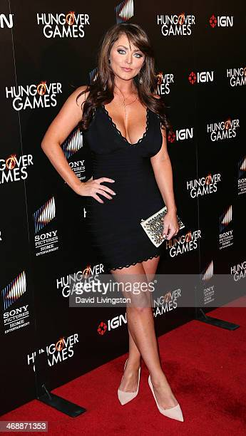 Actress Kirsty Hill attends the premiere of Sony Pictures Home Entertainment's 'The Hungover Games' at the TCL Chinese 6 Theatres on February 11 2014...