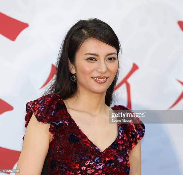 Actress Ko Shibasaki attends the 'Over Your Dead Body KUIME' PR event on August 20 2014 in Tokyo Japan