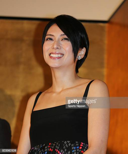 Actress Ko Shibasaki attends the premiere of 'Nobunaga Concerto' on January 23 2016 in Tokyo Japan