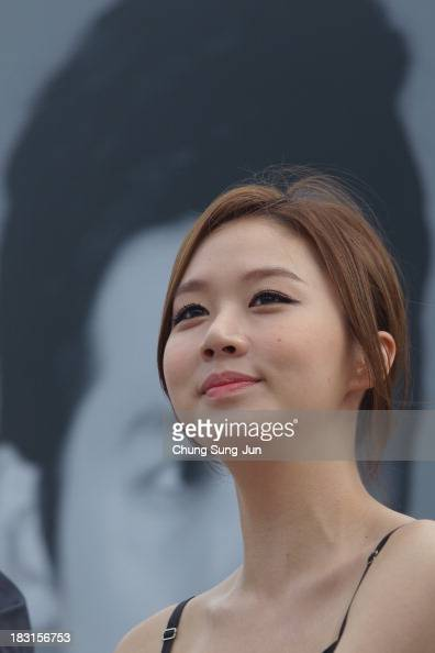 Actress Ko SungHee attends the Open Talk Fasten Your Seatbelt at Haeundae beach during the 18th Busan International Film Festival on October 5 2013...