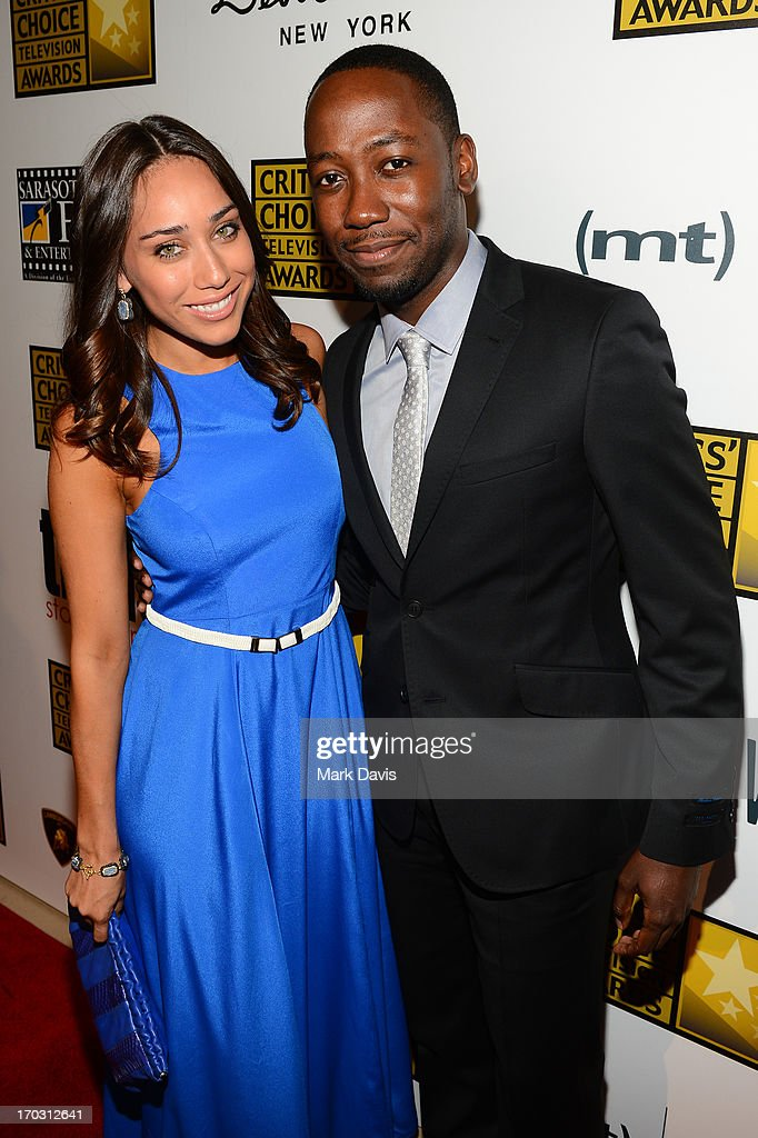 Actress Korinna Rico and actor Lamorne Morris (R) and arrive at Broadcast Television Journalists Association's third annual Critics' Choice Television Awards at The Beverly Hilton Hotel on June 10, 2013 in Los Angeles, California.