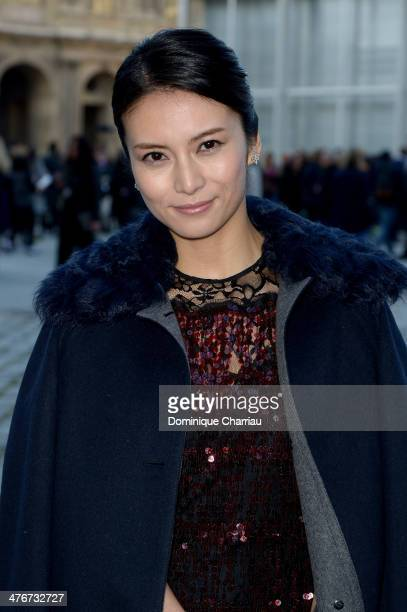 Actress Kou Shibasaki attends the Louis Vuitton show as part of the Paris Fashion Week Womenswear Fall/Winter 20142015 on March 5 2014 in Paris France