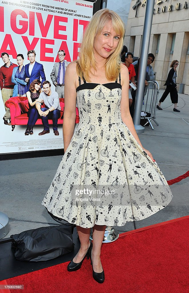 Actress Kris McGaha arrives at the Screening of Magnolia Pictures' 'I Give It A Year' at ArcLight Hollywood on August 1, 2013 in Hollywood, California.