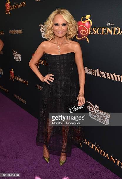 Actress Krisitn Chenoweth attends the premiere of Disney Channel's 'Descendants' at Walt Disney Studios on July 24 2015 in Burbank California