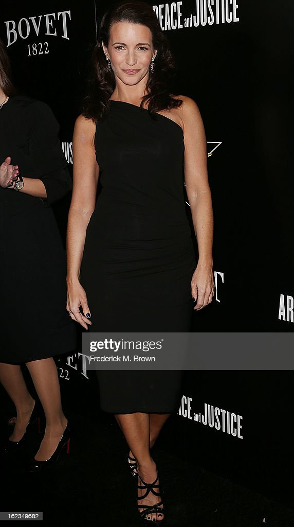Actress Kristan Davis attends Hollywood Domino And Bovet 1822 Gala Benefiting Artists For Peace And Justice at the Sunset Tower Hotel on February 21, 2013 in West Hollywood, California.